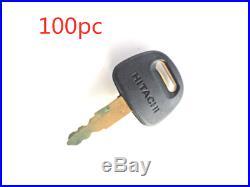 100 Ignition Key For Hitachi Zex John Deere New Holland Excavator Digger H800