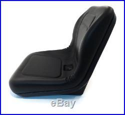 (1) Black HIGH BACK SEAT for John Deere Excavator 890 & Forklift Fork Truck 488E