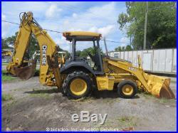 2000 John Deere 410G Backhoe Wheel Loader Tractor Diesel Excavator bidadoo