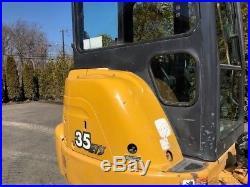 2003 John Deere 35ZTS Rubber Track Excavator Diesel Cab Crawler