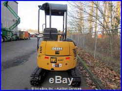 2004 John Deere 17ZTS Mini Excavator Hydraulic Thumb Backfill Blade Two Buckets