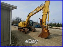 2005 John Deere 160C LC Excavator Hydraulic Thumb, Coupler