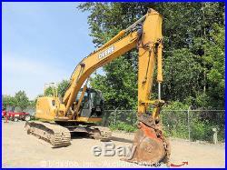 2005 John Deere 225C LC Hydraulic Excavator Cab Backhoe Hyd Q/C 3 Buckets