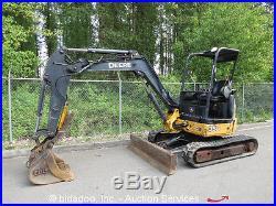 2005 John Deere 35D Mini Excavator Rubber Tracks Hydraulic Thumb Backhoe AUX