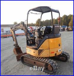 2007 John Deere 27D Hydraulic Mini Excavator