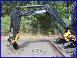 2007 John Deere 35D Mini Excavator A/C Cab Hydraulic Thumb Blade Aux 2-Buckets