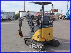 2008 John Deere 17D Mini Excavator Aux Hyd Diesel Rubber Backfill Blade Tracks