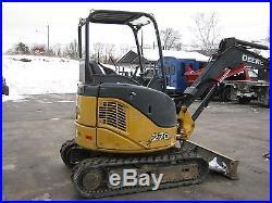 2008 John Deere 27D mini excavator, rubber tracks, aux hydraulics 3500hrs