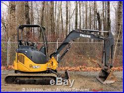 2008 John Deere 35D Mini Excavator Hydraulic Thumb Rubber Tracks Hoe AUX Diesel