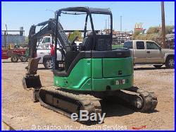 2008 John Deere 50D Mini Excavator Rubber Track Hoe Hydraulic Thumb Dozer Blade