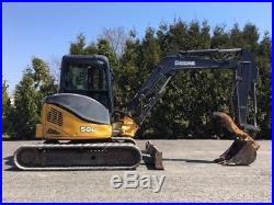 2008 John Deere 50D Rubber Track Excavator Hydraulic Thumb Cab AC Diesel Crawler