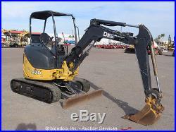 2009 John Deere 27D Mini Excavator Rubber Tracks Backhoe Aux Hyd bidadoo