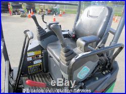 2010 John Deere 17D Hydraulic Mini Excavator Aux Hyd Diesel Backfill Blade Q/C