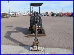 2010 John Deere 17D Mini Excavator Aux Hyd Diesel Rubber Backfill Blade Tracks