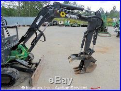 2010 John Deere 17D Mini Excavator Aux Hyd Thumb Diesel Backhoe Blade 13 Bucket