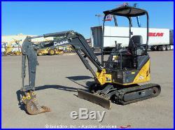 2011 John Deere 17D Mini Excavator Aux Hyd Diesel Rubber Backfill Blade bidadoo