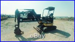 2011 John Deere 27D Excavator Mini Ex Trackhoe 8.6FT Dig 6300LB 26HP Used