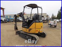 2011 John Deere 27D Mini Excavator Rubber Tracks Backhoe Aux Hyd bidadoo