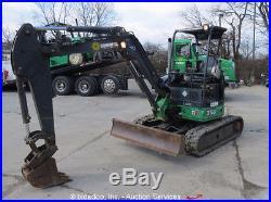 2011 John Deere 35D Mini Excavator Rubber Tracks Track Hoe Aux Hyd Dozer Blade