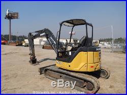 2011 John Deere 50D Mini Excavator Rubber Tracks Aux Hyd Diesel Backhoe bidadoo
