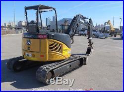 2011 John Deere 50D Mini Excavator Rubber Tracks Backhoe Aux Hyd Diesel bidadoo