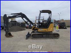2011 John Deere 50D Mini Excavator Rubber Tracks Backhoe Aux Hyd bidadoo