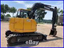 2011 John Deere 75D Rubber Track Excavator Cab AC Diesel Crawler JD