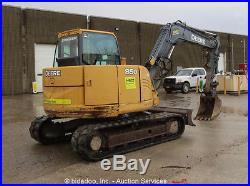 2011 John Deere 85D Midi Hydraulic Mini Excavator A/C Cab Blade Q/C Aux Hyd
