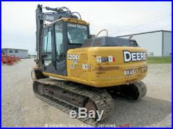 2012 John Deere 120D Hydraulic Excavator A/C Cab Heat Aux Hyd 36 Bucket bidadoo