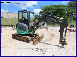 2012 John Deere 27D Mini Excavator Rubber Tracks Backhoe Blade Q/C Aux bidadoo