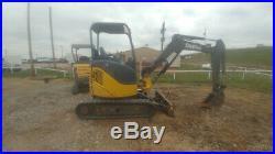 2012 John Deere 27D Trackhoe Excavator Mini Ex 2016Hrs 26Hp 6400LBS Used
