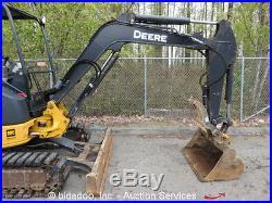 2012 John Deere 35D Mini Excavator Hydraulic Rubber Aux Hydraulics Blade Thumb