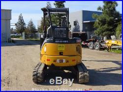 2012 John Deere 35D Mini Excavator Hydraulic Rubber Tracks Aux Hydraulics Blade