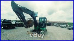 2012 John Deere 60 D Cab A/C Midi Excavator Mini Ex Trackhoe Used