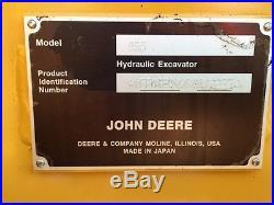 2012 John Deere 85D Excavator