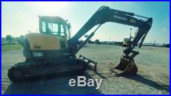 2012 Volvo ECR 88 Midi Cab A/c Excavator Trackhoe Mini Ex Used