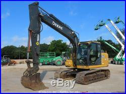 2013 John Deere 130G Hydraulic Excavator Trackhoe A/C Cab Aux Hyd Diesel bidadoo