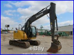2013 John Deere 135G Hydraulic Excavator A/C Cab Aux Hyd Trackhoe Diesel bidadoo