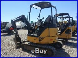 2013 John Deere 27 D Mini Ex Excavator TrackHoe Hyd Couplers Used