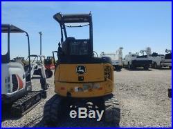 2013 John Deere 27 D Trackhoe Mini Ex Small Excavator With Push Blade Used