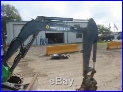 2013 John Deere 35D Mini Excavator Rubber Tracks Q/C Aux Hyd Dozer Blade bidadoo