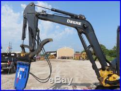 2013 John Deere 50D Mini Excavator Rubber Hydraulic Thumb 3-Bucket Breaker Aux