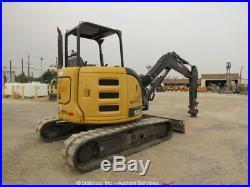 2013 John Deere 50G Mini Excavator Rubber Tracks Backhoe Aux Hyd bidadoo