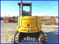 2013 John Deere 50G Mini Excavator Rubber Tracks Backhoe Tractor bidadoo