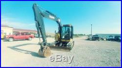 2013 John Deere 75 G Cab A/c Midi Excavator Mini Ex Trackhoe Used
