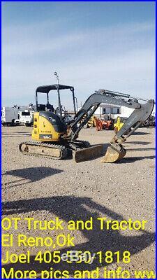 2014 John Deere 27D Mini Excavator Trackhoe 26HP 1523HR Used