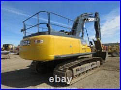 2014 John Deere 350G LC Hydraulic Excavator A/C Cab Aux Hyd Thumb FOPS bidadoo