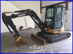 2014 John Deere 35G Mini Excavator, Track Hoe, Rubber Track, Low Hour Excavator
