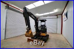 2014 John Deere 35g Mini Track Excavator, 23hp, 17 Bucket, Max Dig Depth 10