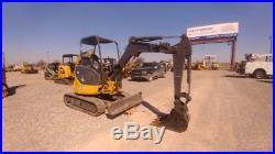 2015 John Deere 27D Small Excavator Mini EX Trackhoe With Push Blade Used